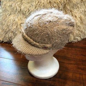 Calvin Klein BoHo Knit Beanie Newsboy Hat